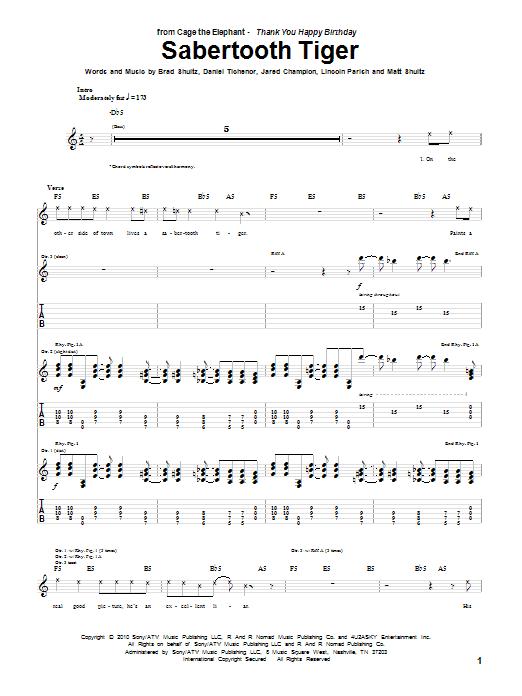 Sabertooth Tiger sheet music