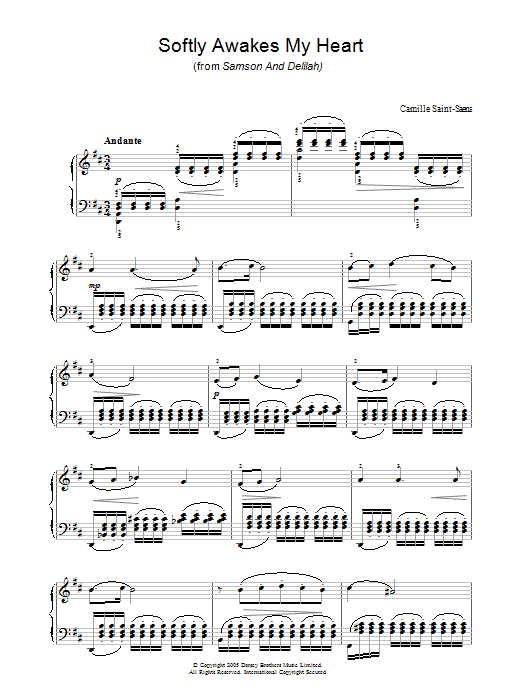 Softly Awakes My Heart (from Samson And Delilah) sheet music