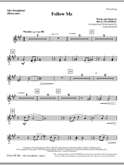 Follow Me - Alto Sax (sub. Horn) sheet music