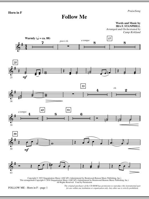 Follow Me - F Horn sheet music