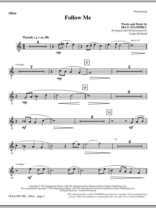 Follow Me - Oboe sheet music