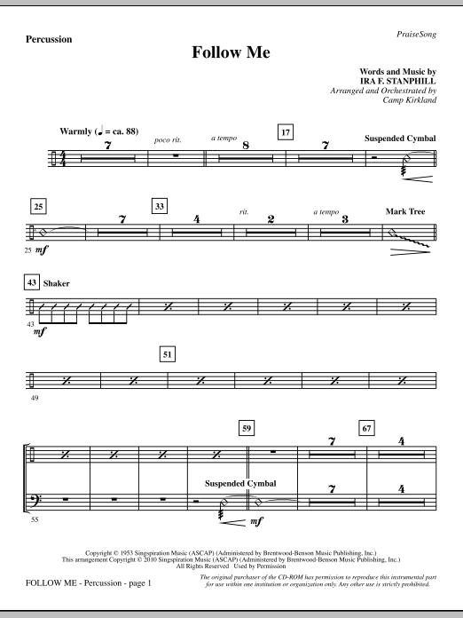 Follow Me - Percussion sheet music