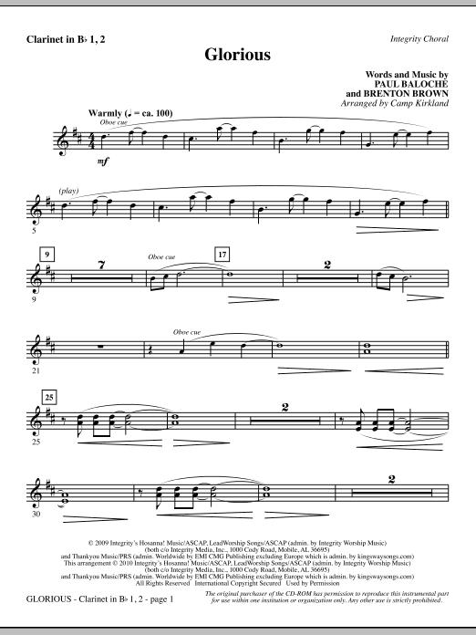 Glorious - Clarinet 1 & 2 sheet music