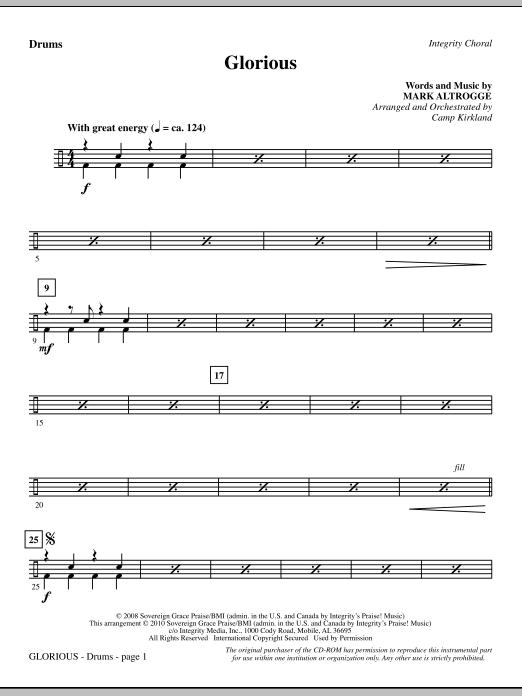 Glorious - Drums sheet music
