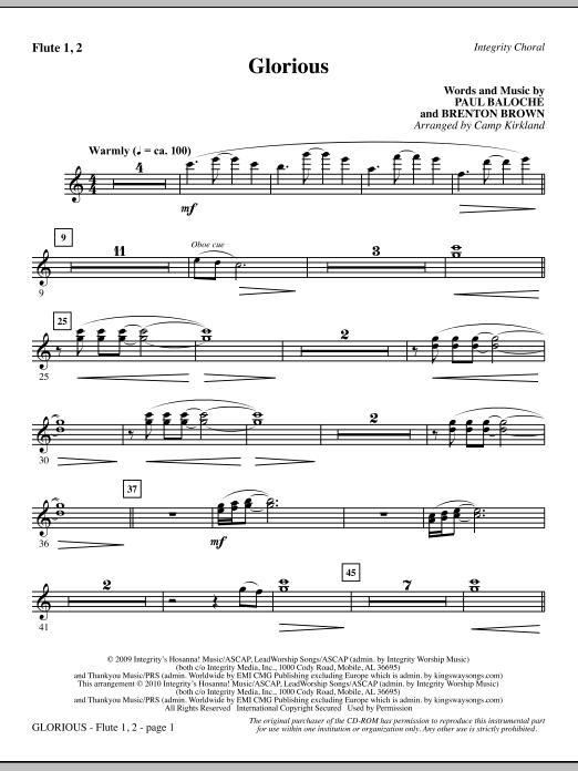 Glorious - Flute 1 & 2 sheet music