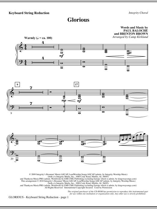Glorious - Keyboard String Reduction sheet music