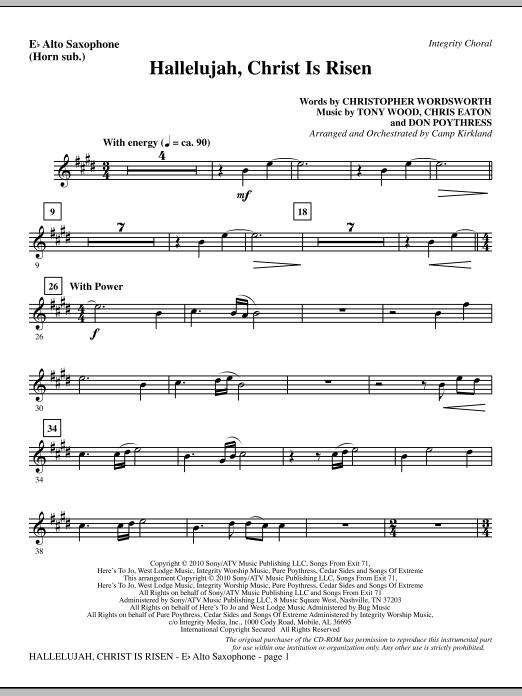 Hallelujah, Christ Is Risen - Alto Sax (sub. Horn) sheet music