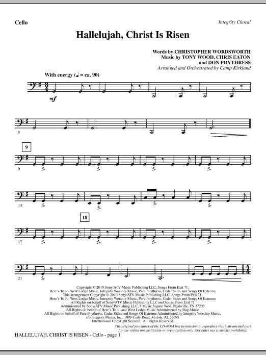 Hallelujah, Christ Is Risen - Cello sheet music
