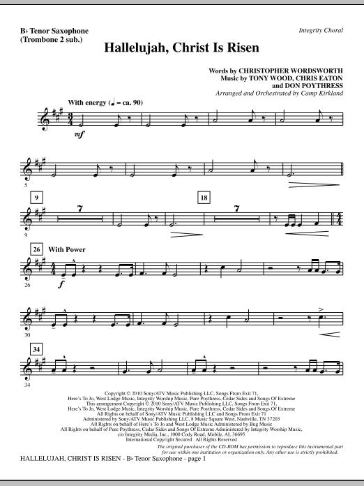 Hallelujah, Christ Is Risen - Tenor Sax (sub. Tbn 2) sheet music