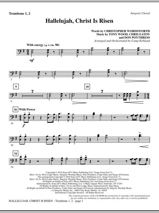 Hallelujah, Christ Is Risen - Trombone 1 & 2 sheet music
