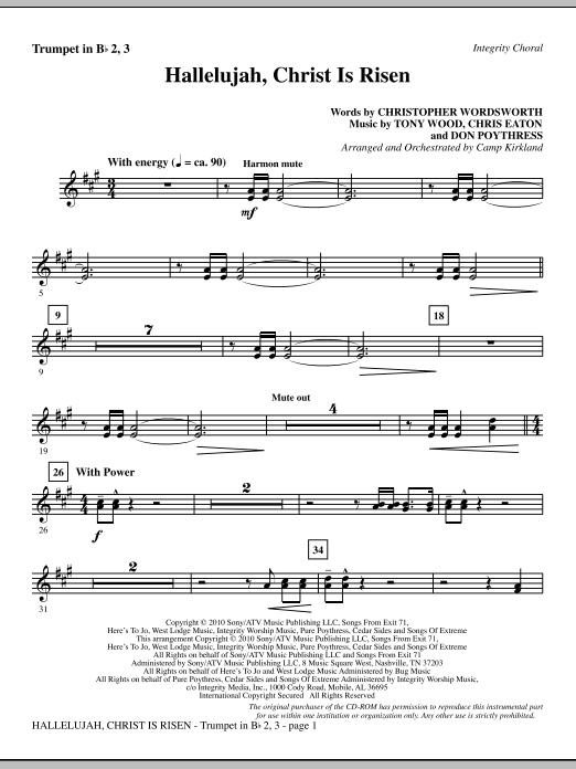 Hallelujah, Christ Is Risen - Trumpet 2 & 3 sheet music