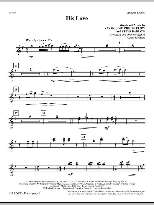 His Love - Flute sheet music