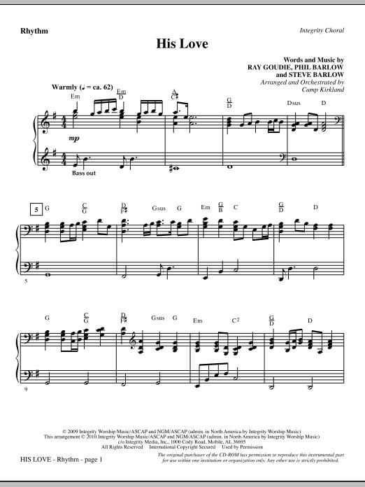 His Love - Rhythm sheet music