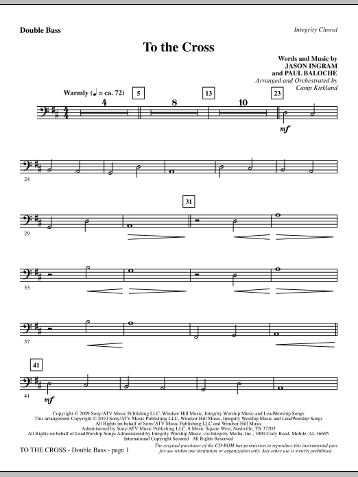 To The Cross - Double Bass sheet music
