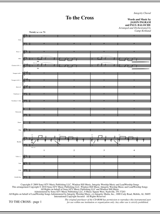 To The Cross - Full Score sheet music
