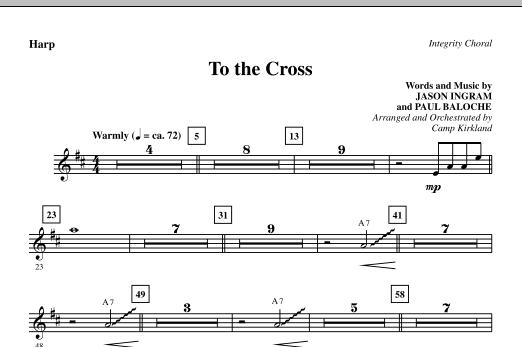 To The Cross - Harp sheet music