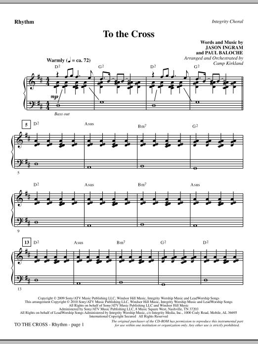 To The Cross - Rhythm sheet music