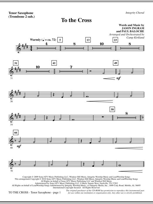 To The Cross - Tenor Sax (sub. Tbn 2) sheet music