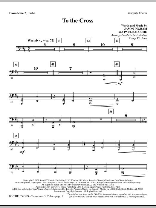 To The Cross - Trombone 3/Tuba sheet music