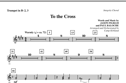 To The Cross - Trumpet 2 & 3 sheet music