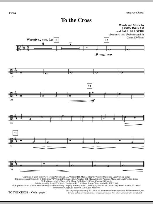 To The Cross - Viola sheet music