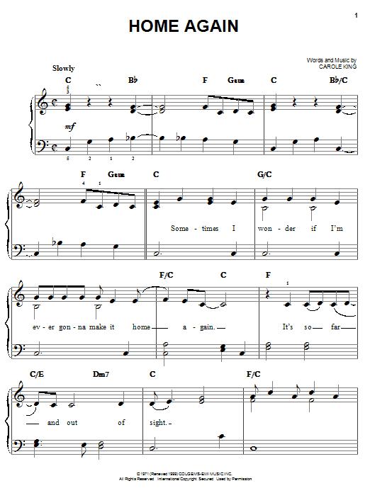 Home Again sheet music