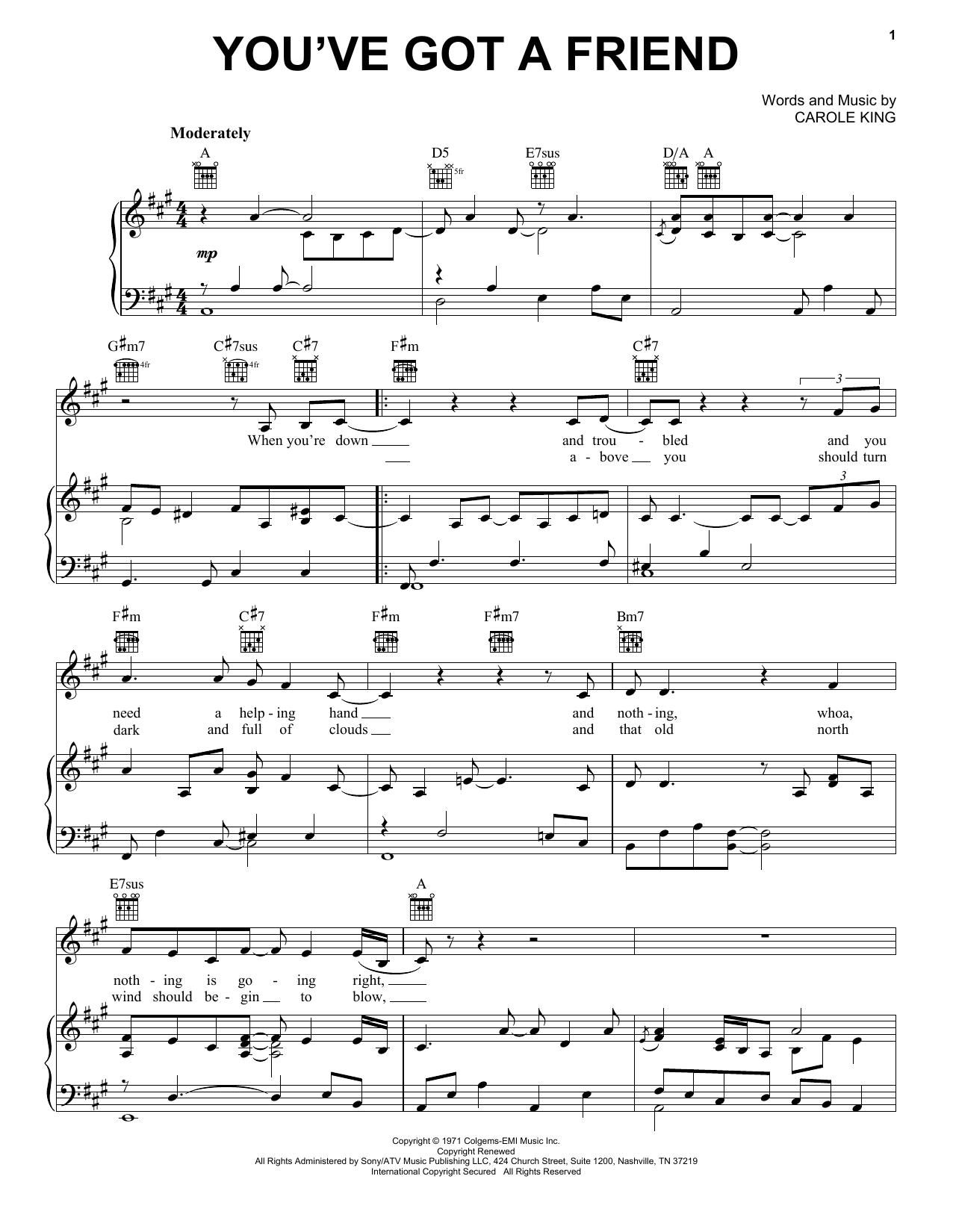 You've Got A Friend sheet music