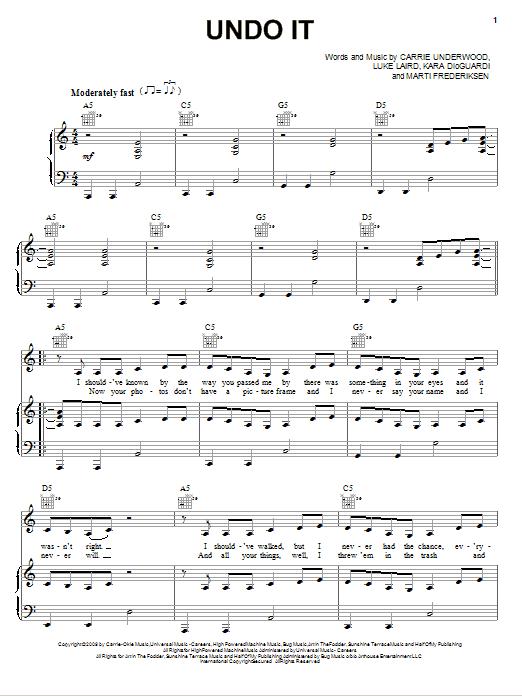 Undo It sheet music