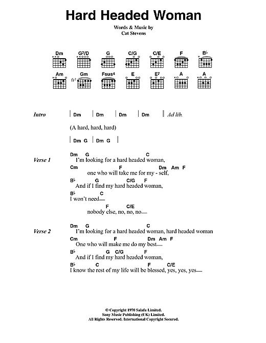 Hard Headed Woman sheet music