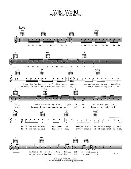 Wild World sheet music