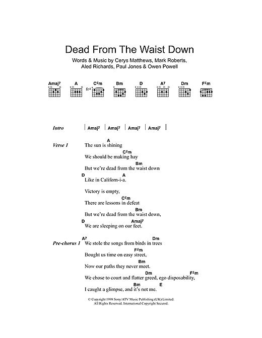 Dead From The Waist Down sheet music