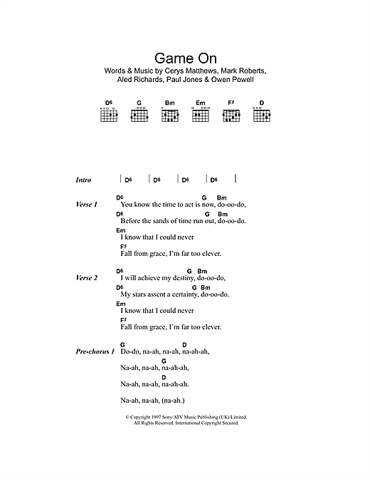 Game On sheet music