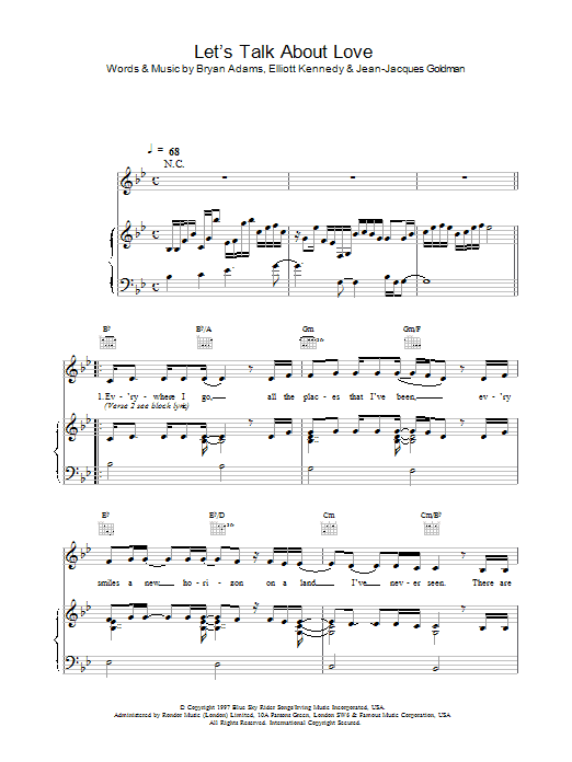 Let's Talk About Love sheet music