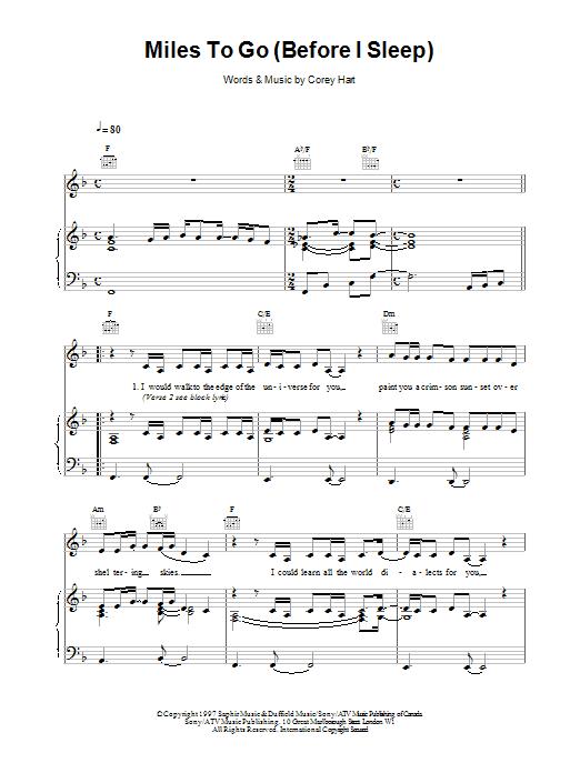 Miles To Go Before I Sleep sheet music