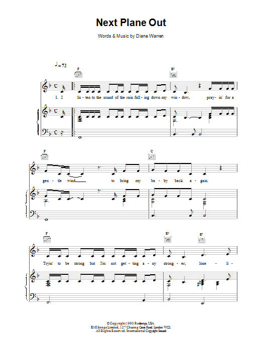 Next Plane Out sheet music