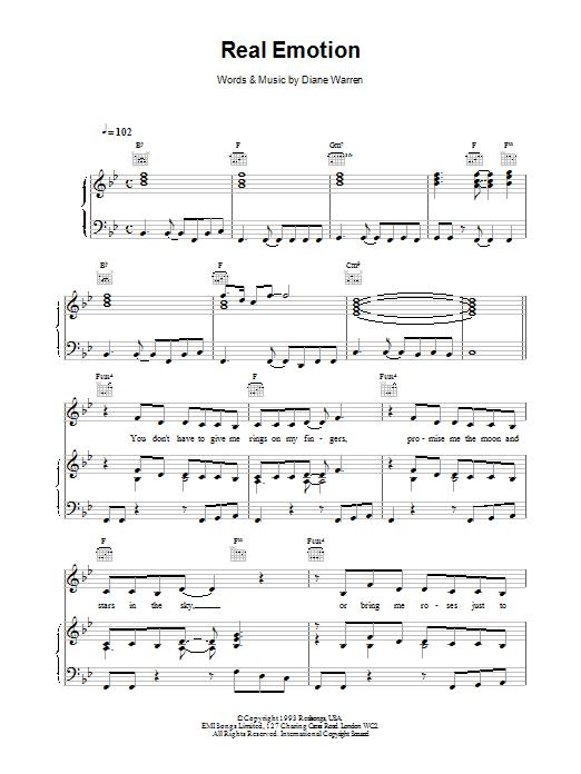 Real Emotion sheet music