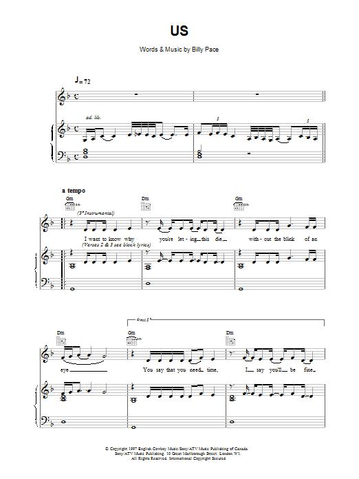 Us sheet music