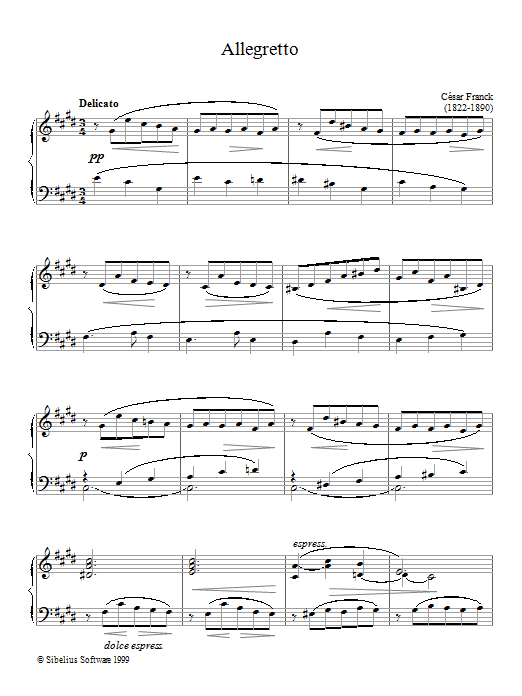 Allegretto sheet music