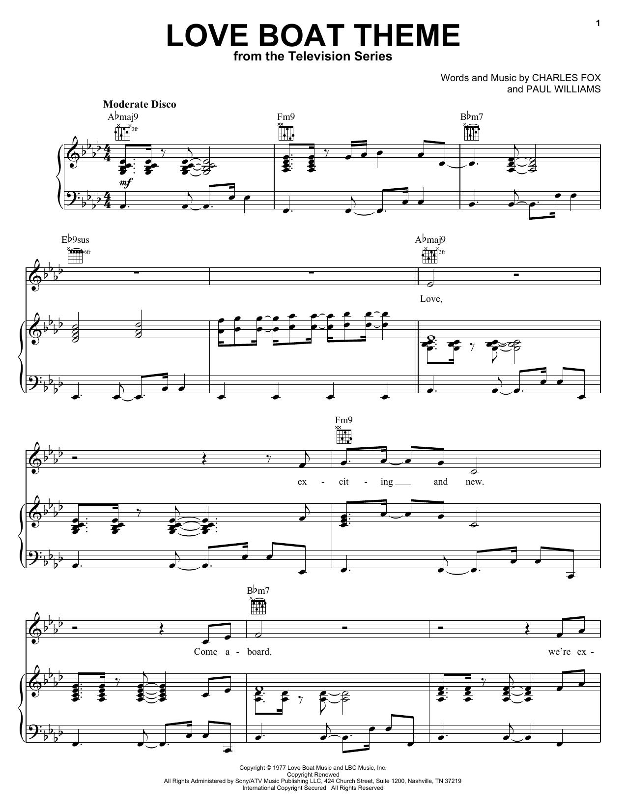 Love Boat Theme sheet music