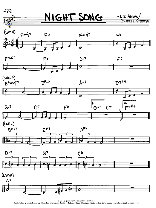 Night Song sheet music