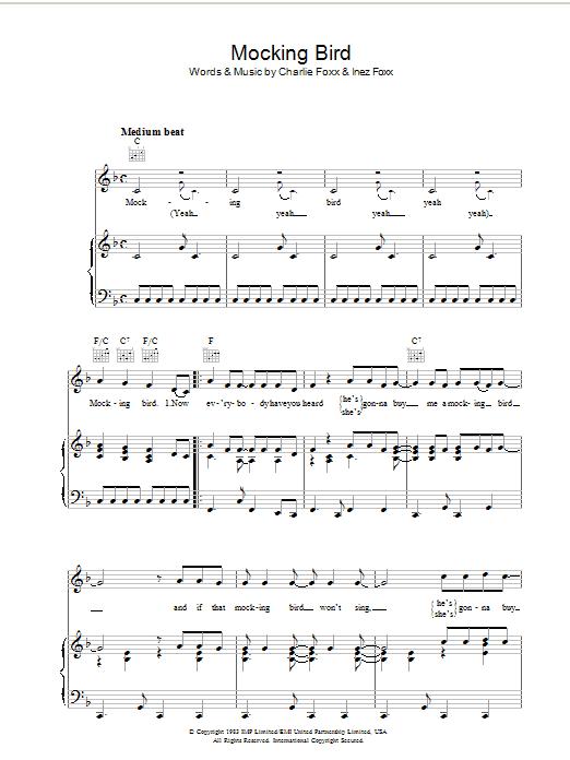 Mocking Bird sheet music