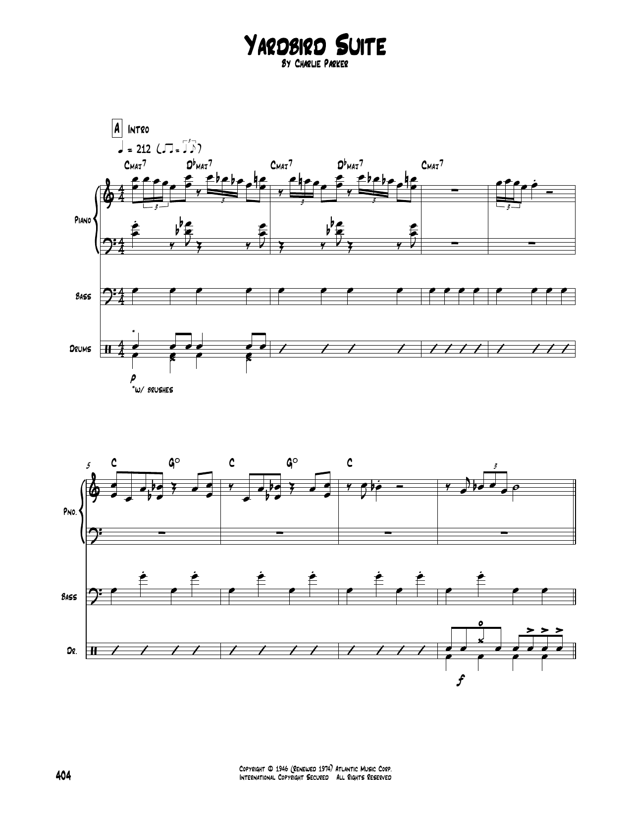 Yardbird Suite sheet music
