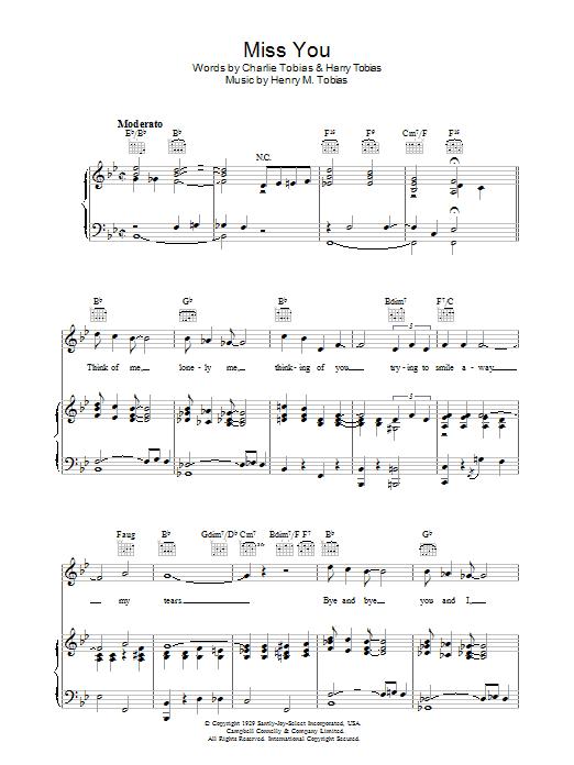 Miss You sheet music