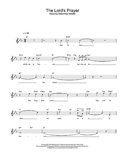 The Lord's Prayer sheet music