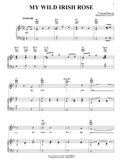 My Wild Irish Rose sheet music