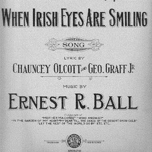 Chauncey Olcott, When Irish Eyes Are Smiling, Piano, Vocal & Guitar (Right-Hand Melody)