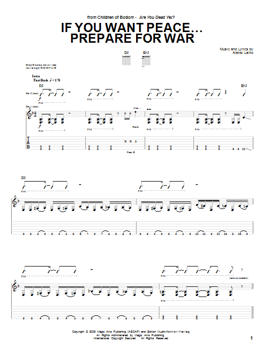If You Want Peace... Prepare For War sheet music