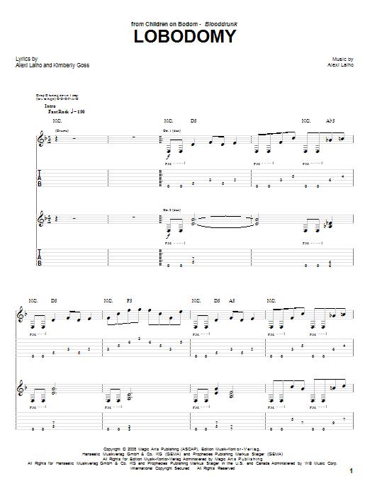 LoBodomy sheet music