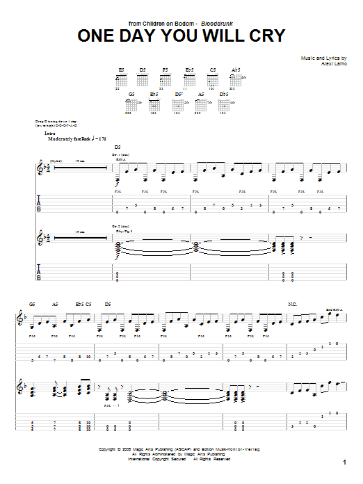 One Day You Will Cry sheet music
