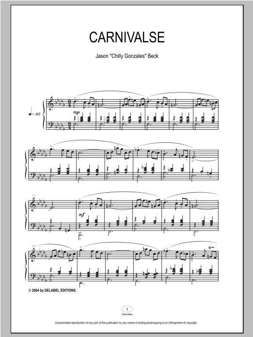 Carnivalse sheet music